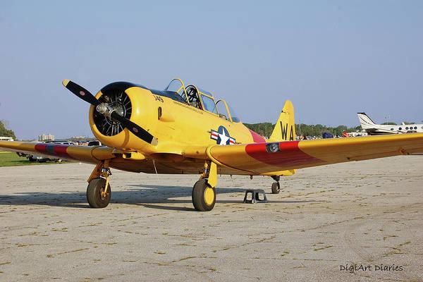 New Smyrna Beach Digital Art - World War II Warbird by DigiArt Diaries by Vicky B Fuller