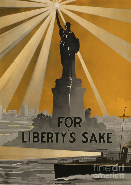 Wall Art - Painting - World War One Recruiting Poster With The Statue Of Liberty by American School