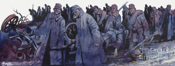 Wall Art - Painting - World War One The Austrian Army Smashed By The Serbs by Ron Embleton