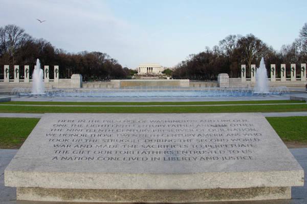 Wall Art - Photograph - World War Two Memorial - Washington Dc by Bill Cannon