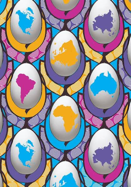 Painting - World Wide Egg by Francois Domain