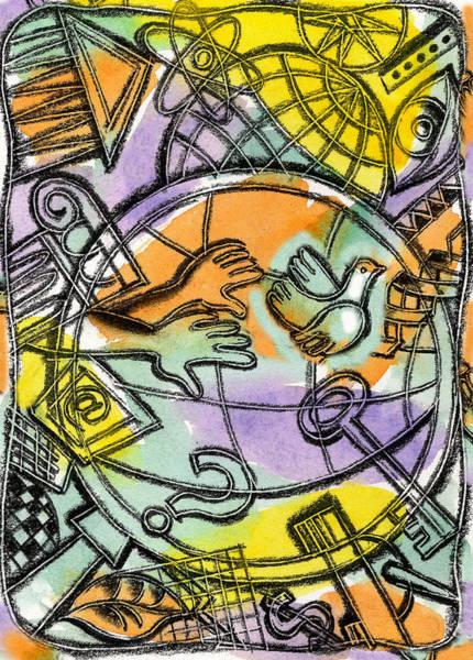 Eyeballs Painting - World Wide Web by Leon Zernitsky
