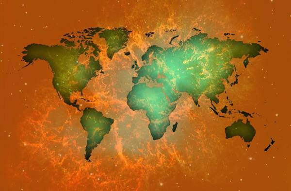 Digital Art - Worldmap In Landspace by Alberto RuiZ