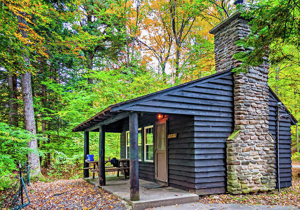 Civilian Conservation Corps Wall Art - Photograph - Worlds End Cabin 2 by Steve Harrington