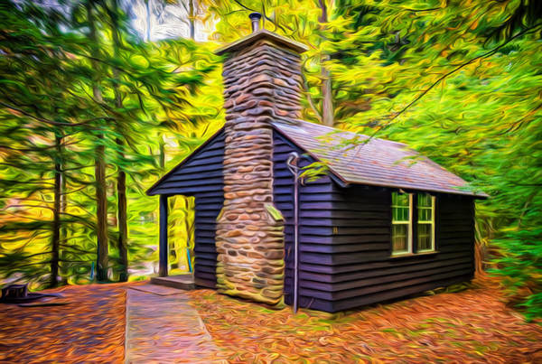 Civilian Conservation Corps Wall Art - Photograph - Worlds End Cabin - Paint by Steve Harrington