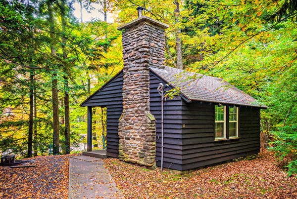 Civilian Conservation Corps Wall Art - Photograph - Worlds End Cabin by Steve Harrington