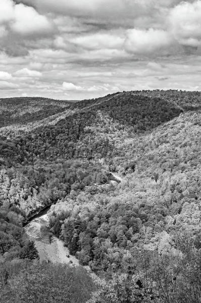 Wall Art - Photograph - Worlds End State Park Lookout 6 Bw by Steve Harrington