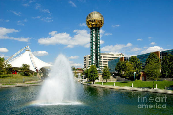 Photograph - Worlds Fair Park In Knoxville  by Paul W Faust - Impressions of Light