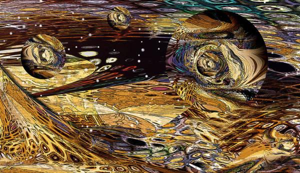 Fractal Landscape Digital Art - Worlds Within by Phil Sadler