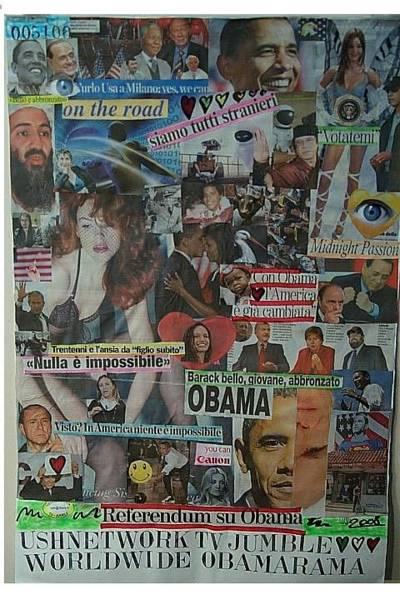 Wall Art - Mixed Media - Worldwide Obamarama by Francesco Martin
