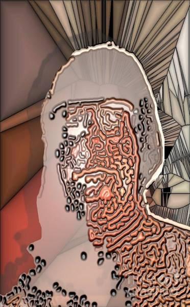 Distortions Digital Art - Worman by Ron Bissett