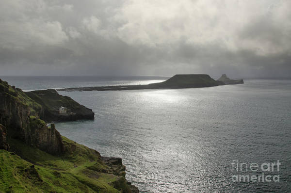 Art Print featuring the photograph Worms Head, Rhossili Bay, South Wales by Perry Rodriguez