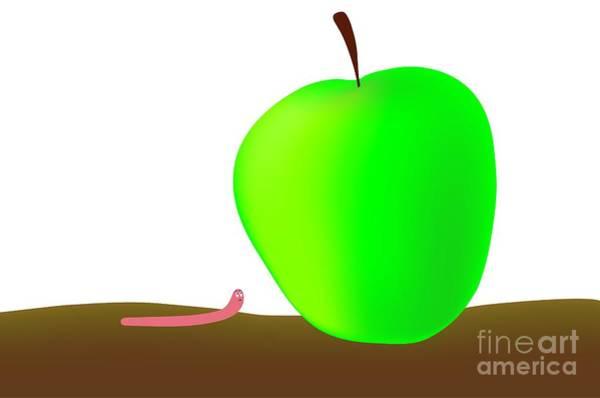 Digital Art - Worn And Apple by Michal Boubin