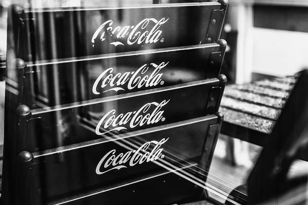 Photograph - Worn Coca Cola Seats by John Williams