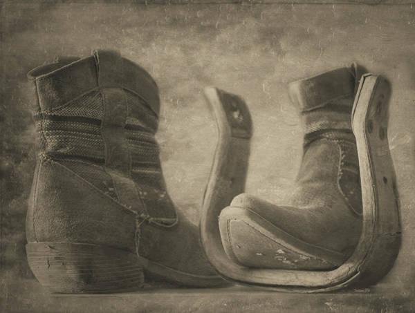 Photograph - Worn - Monochrome by Teresa Wilson