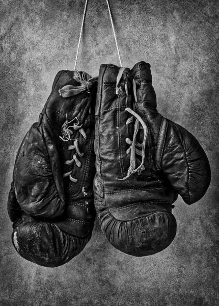 Boxing Photograph - Worn Out Boxing Gloves by Garry Gay
