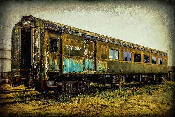 Railroad Car Photograph - Worn Weathered Passenger Car by Garry Gay