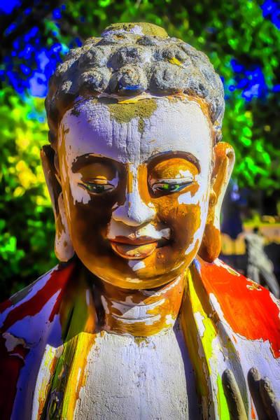 Wall Art - Photograph - Worn Wooden Buddha by Garry Gay