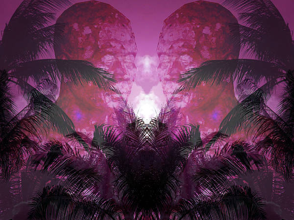 Sacred Heart Mixed Media - Worship At The Pink Sunset by Manik Designs