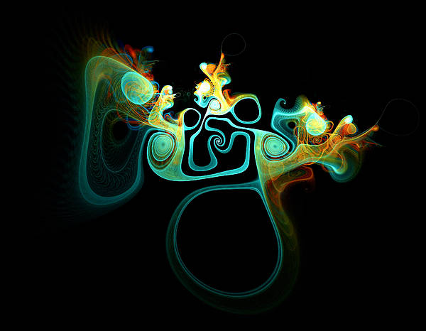 Apophysis Digital Art - Wot's Going On In Ear by Amanda Moore