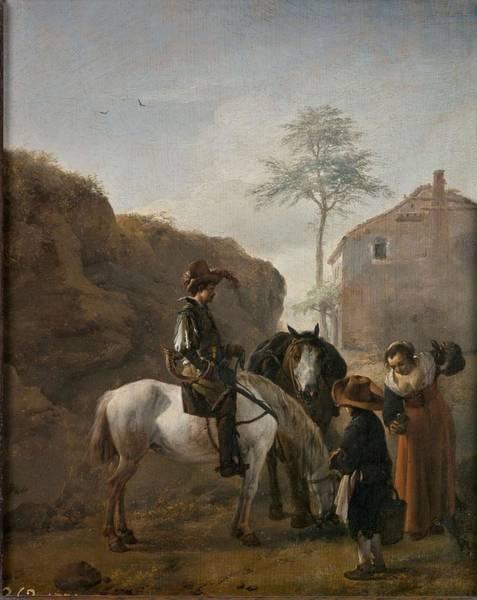 Painting - Wouwerman  Philips Haarlem  1619   Haarlem  1668 A Huntsman 1650   1653. by Artistic Panda