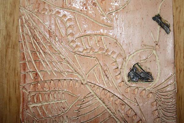 Ceramic Art - Woven Tile by Gloria Ssali