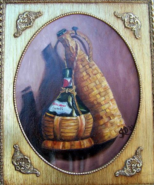 Painting - Woven Wicker Wine Casks - Sold by Susan Dehlinger