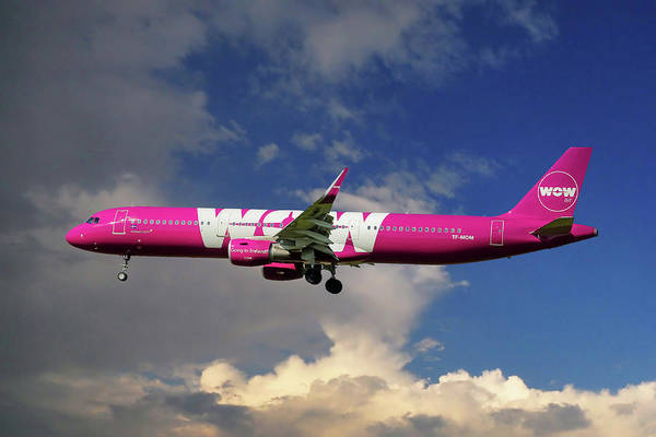 Wall Art - Photograph - Wow Air Airbus A321-211 by Smart Aviation