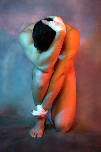Male Nude Digital Art - Wow Colors  by Mark Ashkenazi