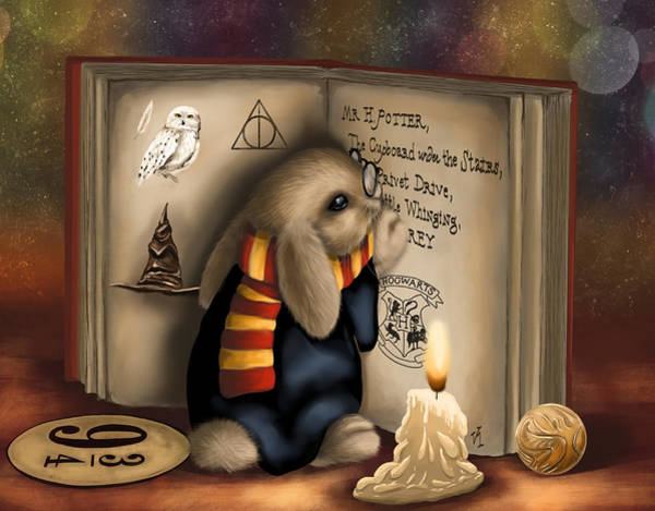 Presents Painting - Wow I'm Harry Potter by Veronica Minozzi