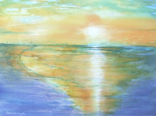 Painting - Wow Sunset by Debbie Lewis