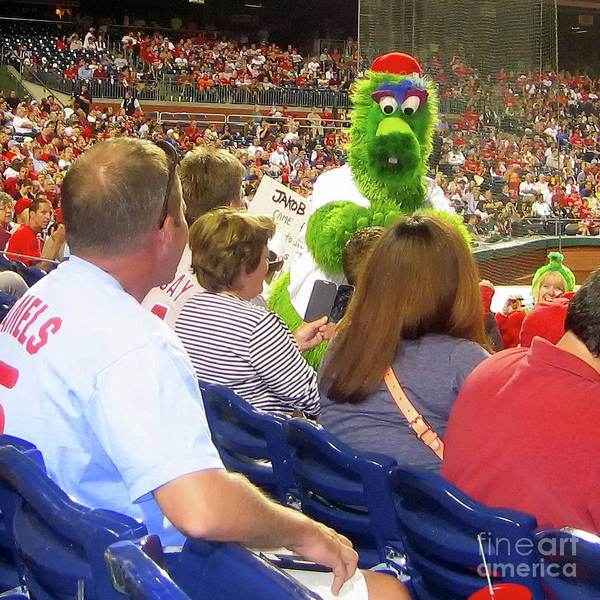 Phillie Phanatic Wall Art - Photograph - Wowing The Crowd by Geoff Crego