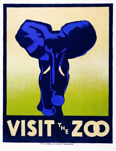 Photograph - Wpa Elephant Poster by Rospotte Photography