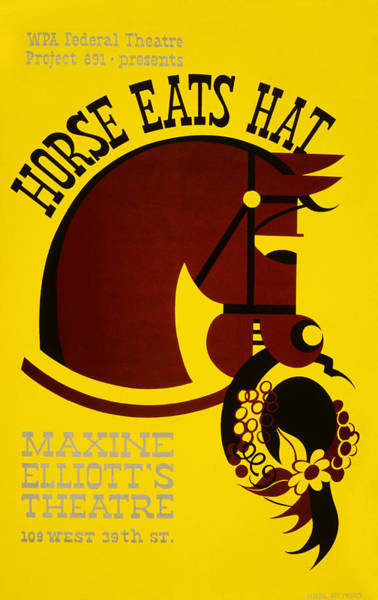 Photograph - Wpa Horse Eats Hat Poster by Rospotte Photography