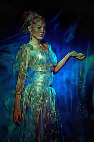 Digital Art - Wrapped In Blue by Catherine Lott