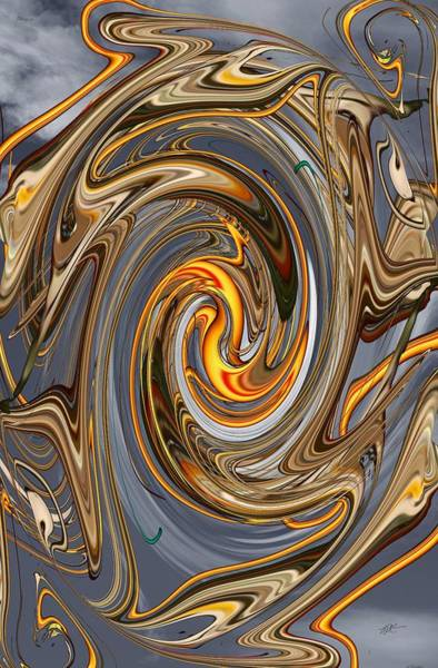 Digital Art - Wrapping Around - Enclosing by rd Erickson