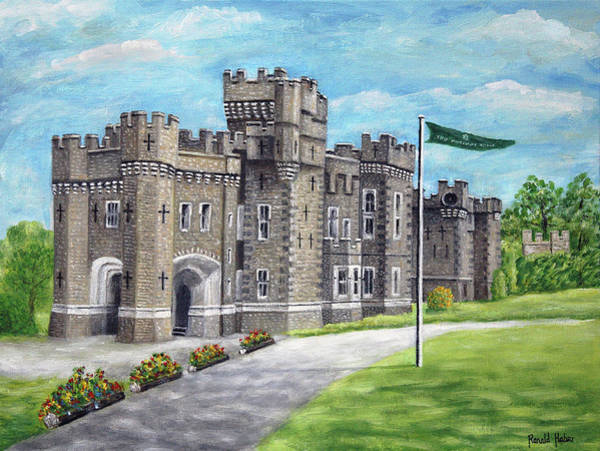 Windermere Painting - Wray Castle - Lake District by Ronald Haber