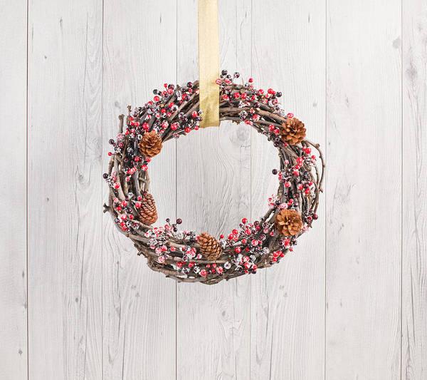 Photograph - Wreath In Autumn Decoration by U Schade