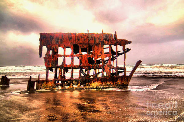 Wall Art - Photograph - Wreck Of The Peter Iredale  by Jeff Swan
