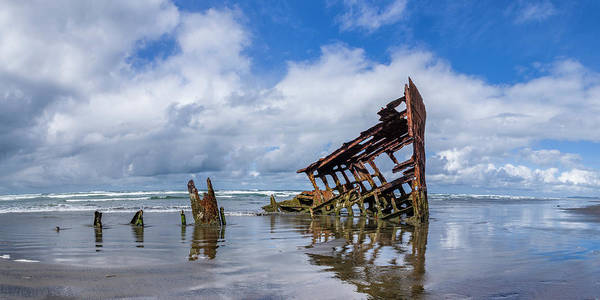 Wall Art - Photograph - Wreck Of The Peter Iredale, Pano, Fort Stevens, Oregon by John Trax
