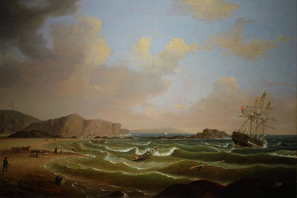 Painting - Wreck Of The Roma By Fitz Henry Lane 1846 by Fitz Henry Lane