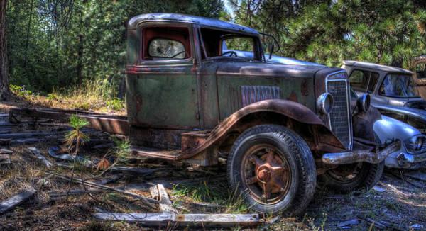 Photograph - Wrecking Yard Study 16 by Lee Santa