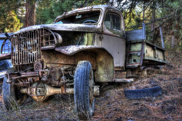 Photograph - Wrecking Yard Study 3 by Lee Santa