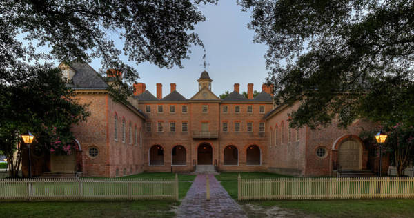 Photograph - Wren Building At Dusk by Jerry Gammon