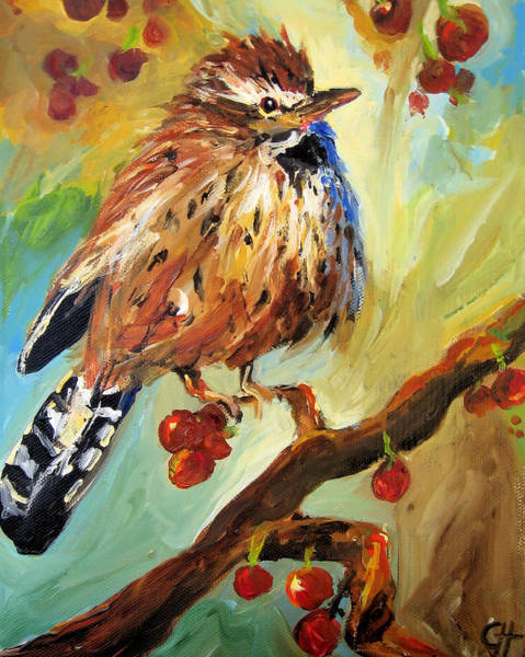 Wall Art - Painting - Wren by Cari Humphry
