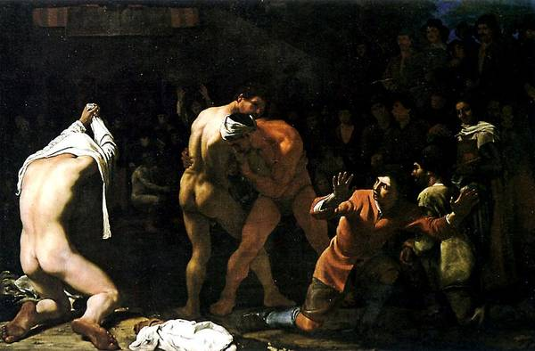 Painting - Wrestling Match by Michiel Sweerts