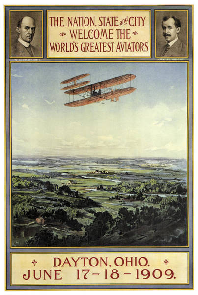 Wall Art - Photograph - Wright Bros Return Home Celebration - Dayton Ohio 1909 by Daniel Hagerman