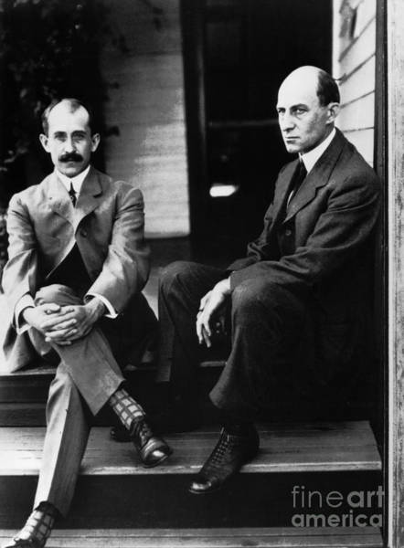 Photograph - Wright Brothers by Granger