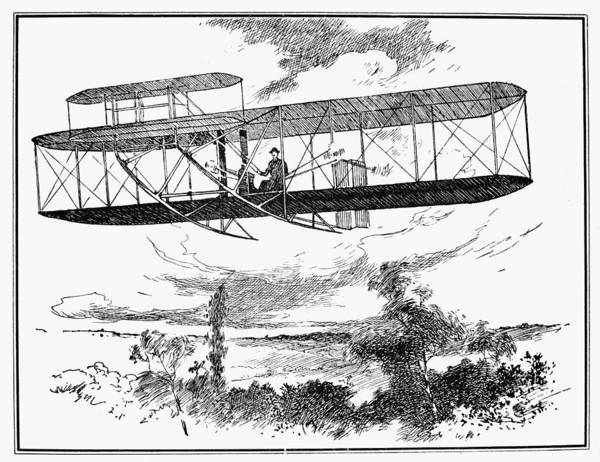 Photograph - Wright Brothers Plane by Granger