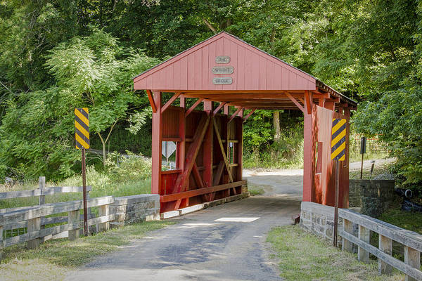 Photograph - Wright Or Cerl Covered Bridge by Jack R Perry